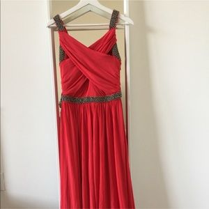 Coast bejeweled maxi dress in jersey fabric